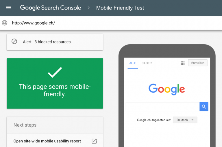 GOOGLE NEW MOBILE FRIENDLY TEST TOOL
