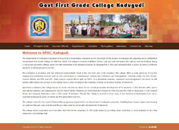 Government First Grade College, Kadugudi